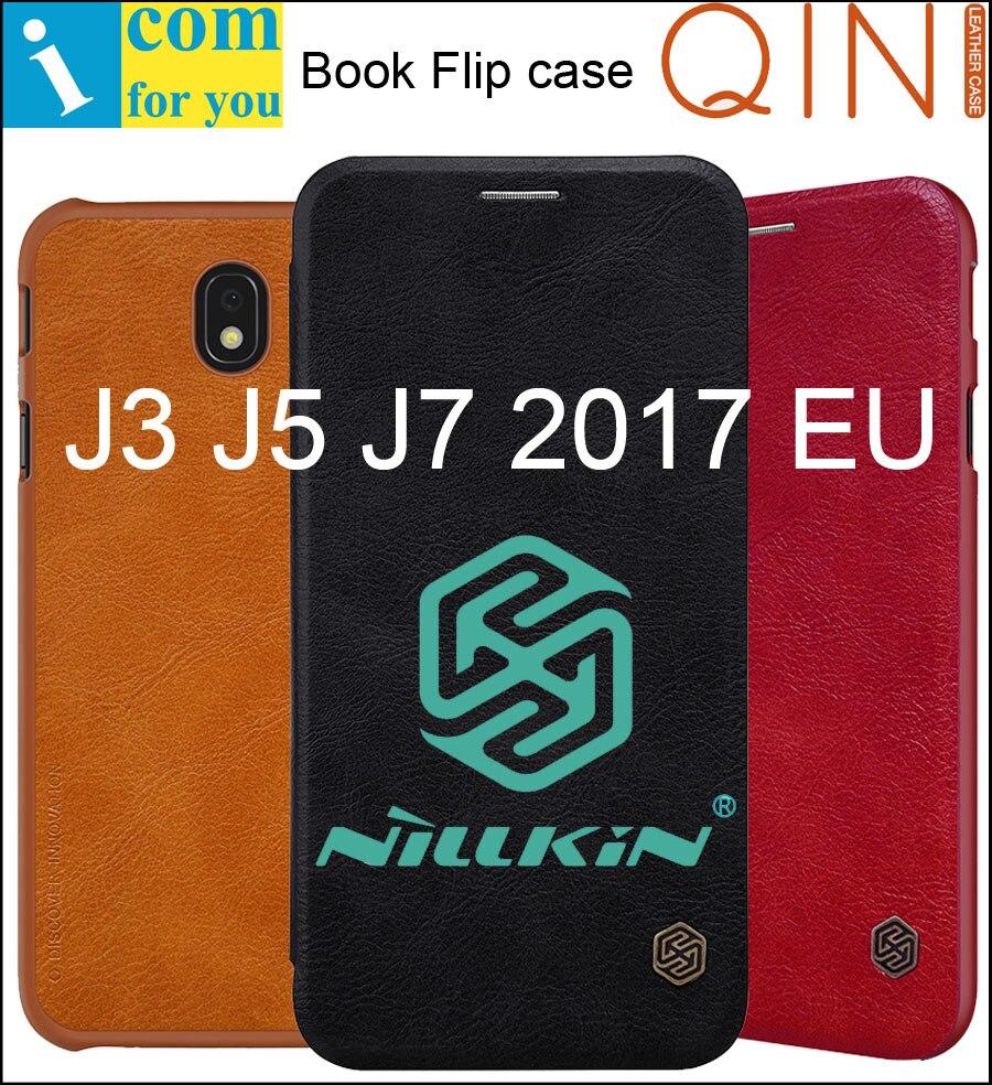 Galleria fotografica Nillkin Qin Book Flip Leather Case Cover For Samsung Galaxy J5 J3 J7 2017 J330F J530F J730F European