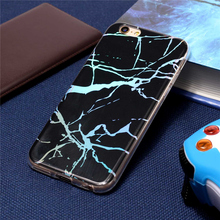 Plating TPU Phone Cases For iPhone 6 6S Case Shiny Laser Marble Soft Protective Cover Glossy Capa Coque