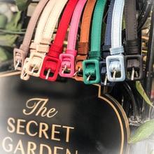 LE PALAIS VINTAGE Basic Multi Colors PU Satin Classic Belt 1.3cm Elegant Designe