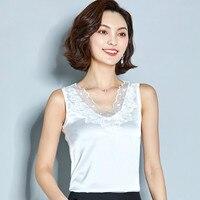 2019 Sexy Lace Tank Tops Women Summer V neck Sleeveless Vest Top White Black Ladies Shirts Blusas Plus Size 3XL