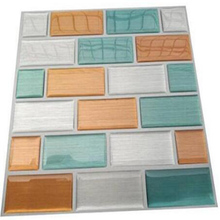 Wall tile Peel and stick vinyl for your home decoration waterproof oilproof brick DIY wall kitchen