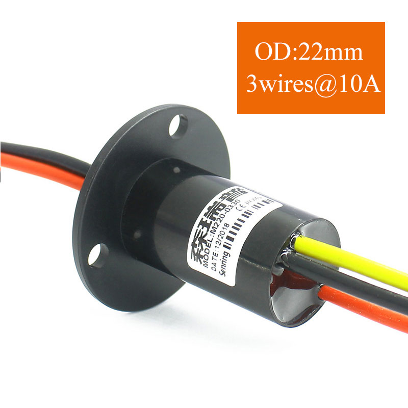 Wind Power Slip Ring 3 Wires 30A Rotate Dining Table Slipring Electric Collector Rings SNM022-0330