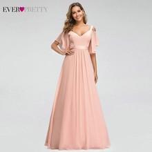 Ever Pretty Pink Bridesmaid Dresses A-Line V-Neck Off The Sh