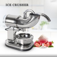 ITOP Full Stainless steel Ice Crushers Shavers Electric Ice Smoothies Maker Blender Machine For Coffee Bar Shop EU/US/UK Plug
