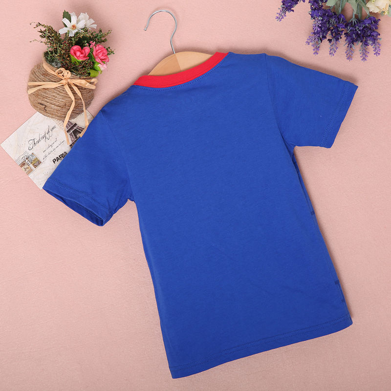 New-2016-Boy-Superman-T-Shirt-clothes-O-neck-short-sleeve-t-shirts-for-couples-Cotton-tees-4