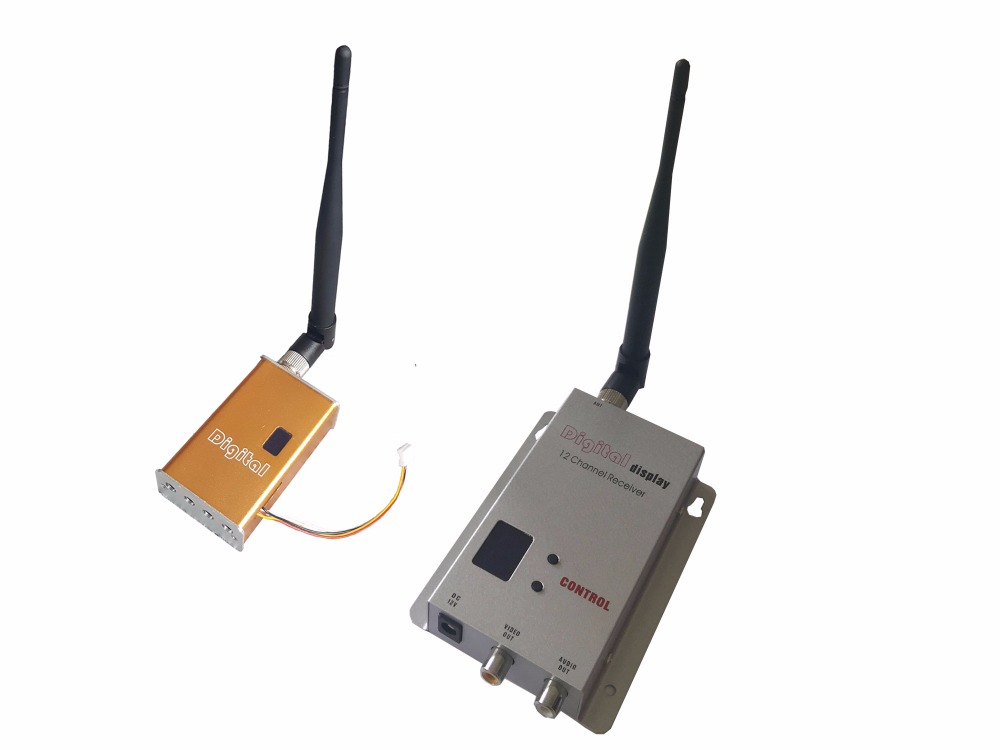 7000mW Miniature FPV Video Sender 1200Mhz Audio Video Wireless Transmitter and Receiver 100km LOS Long Distance