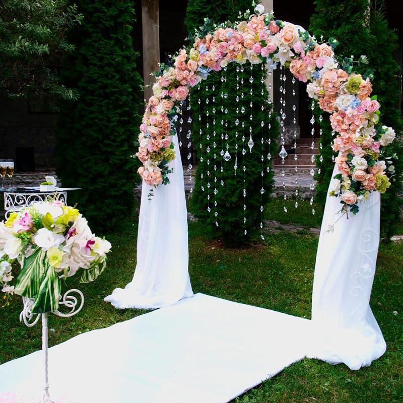 Customize wedding silk flower artificial flower arch flower arrangement decoration wedding Decorative fake flower row window