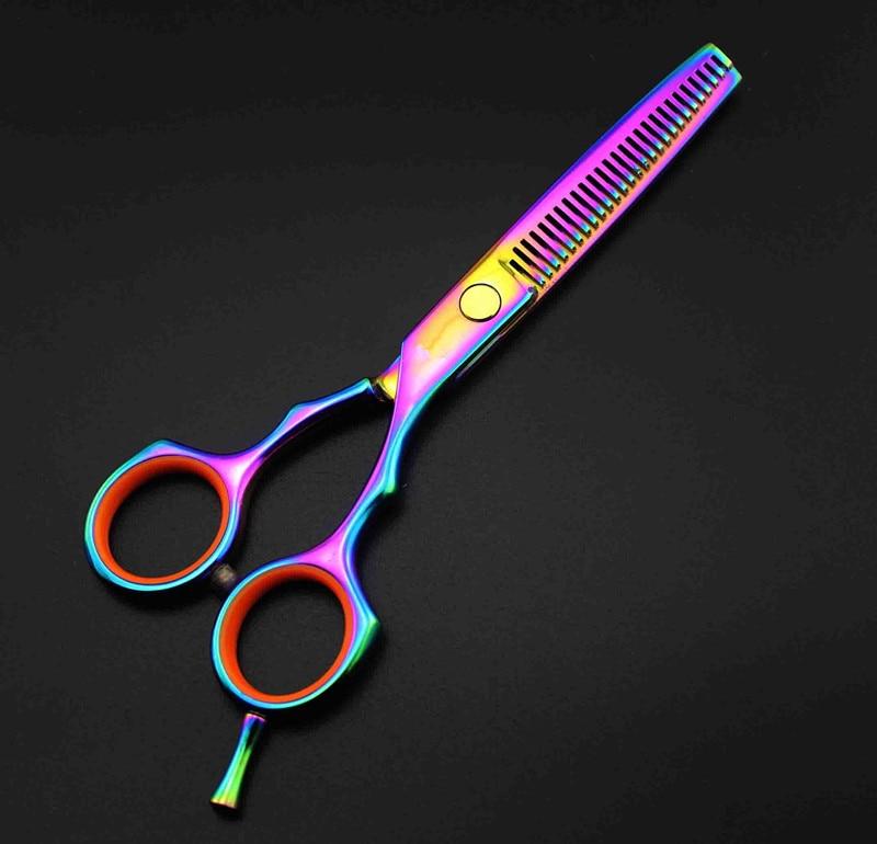 Profesional 5,5 pulgadas Japón 440c acero 9cr13 adelgazamiento del - Cuidado del cabello y estilo - foto 5