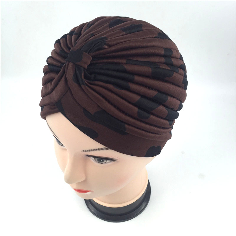 New arrival 10 color dot print turban hats Unisex New Head Wrap Cap women hospital cancer Hat wine red blue gold brown  white skullies 2017 fashion new arrival indian yoga turban hat ear cap sleeve head cap hat men and women multicolor fold 1866688