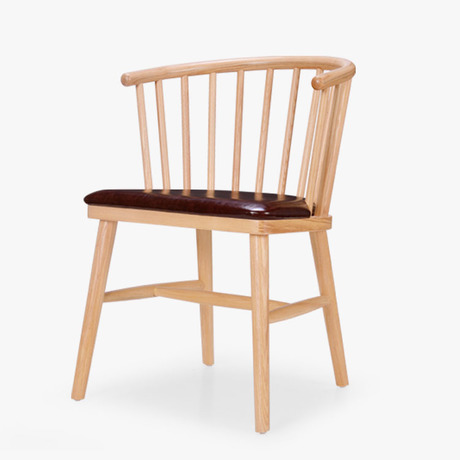 Commercial Cafe Chairs Cafe Furniture solid wood+leather louis chairs coffee chair dining chair chaise nordic furniture 55*50*75
