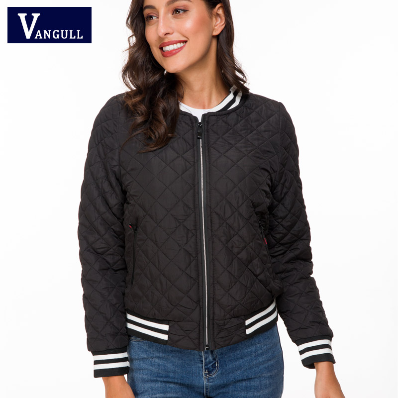 Vangull Jacket women 2019 New Spring Autumn Winter velvet lamb Coat Woman basic Parkas Outerwear Down jackets Female Clothings