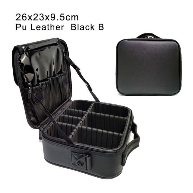 Professional clapboard portable cosmetic bag small portable simple makeup waterproof storage bag 2