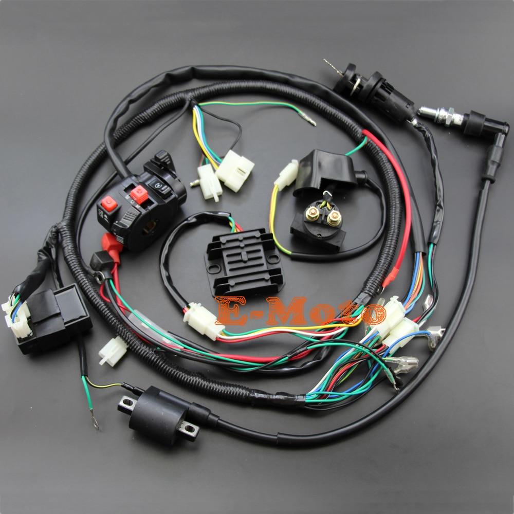 200CC 250cc クワッド完全な電気設備電気設備ハーネス CDI 点火コイル D8EA 電磁整流 Zongshen 力帆 Loncin  グループ上の 自動車 &バイク からの バイク点火材 の中 1