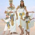 Cosplay de halloween egipto prince princesa real rey reina de oro de lujo de los hombres las mujeres del traje de mascarada fiesta temática adultos niña niño