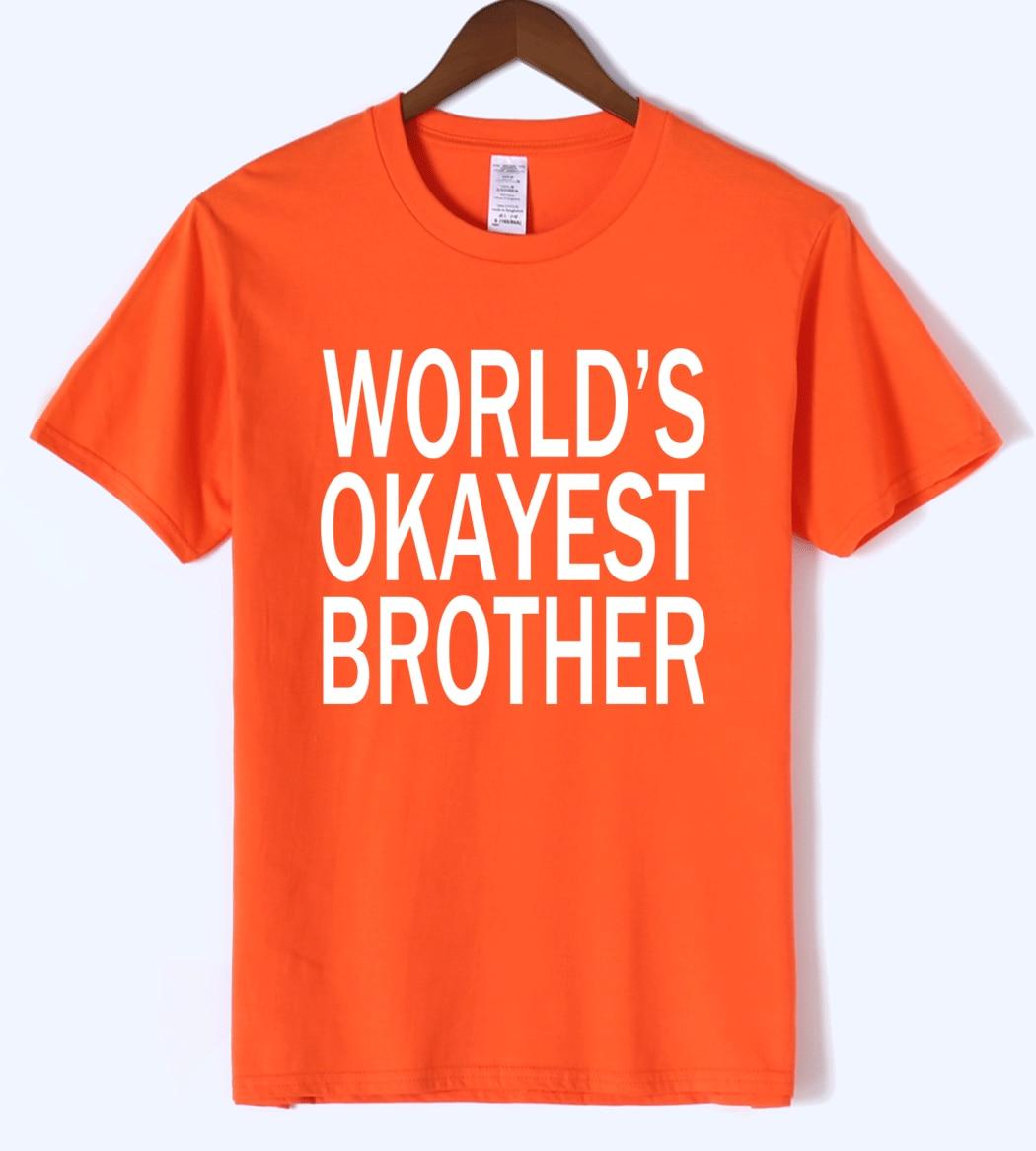 WORLD'S OKAYEST BROTHER 2019 summer hot sale T-shirts Crossfit T-Shirt men kpop men's T-shirt tops streetwear hip hop t shirt
