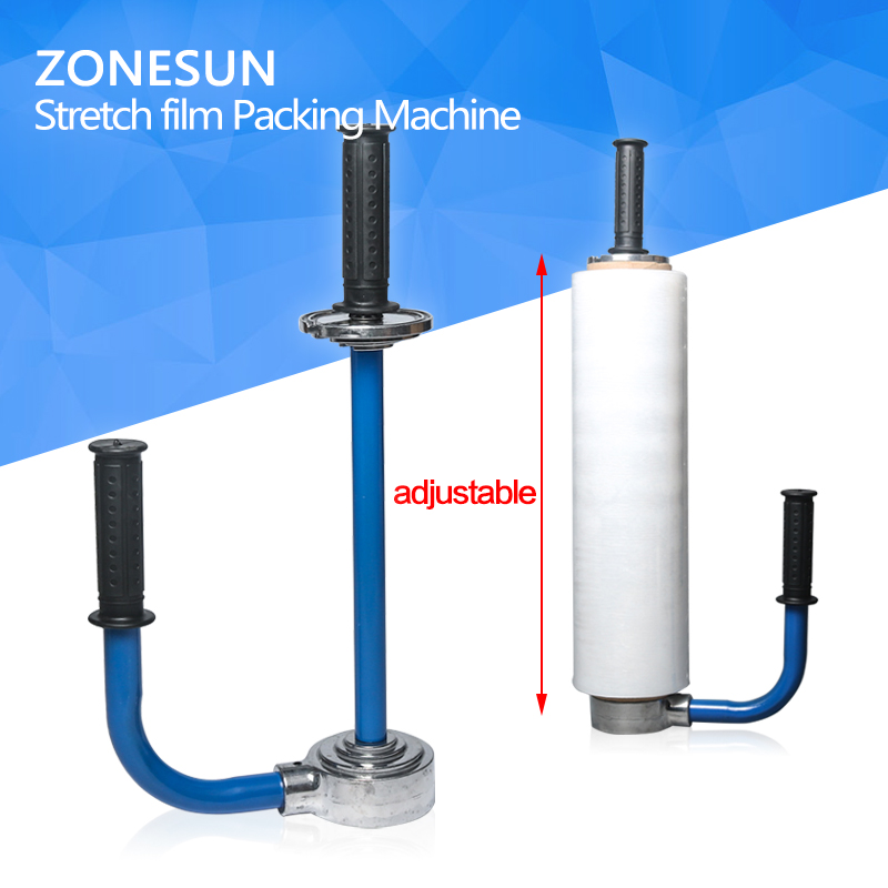 ZONESUN E610 Adjustable Handy manual pallet packing carton packing stretch film wrapping tools stretch film dispenser zonesun pe stretch film machine