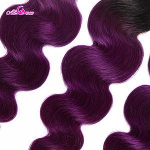 Image 5 - Ali Coco Body Wave 3 Bundle With Closure 1B/Purple Color Brazilian Hair Bundles With Closure 8 28 Inch Remy Hair Extension