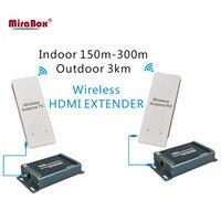 HDMI Extender Беспроводной HD видео/передачи аудио сигнала HDMI Беспроводной Extender HD приемника и передатчика 1080 P до 3 км