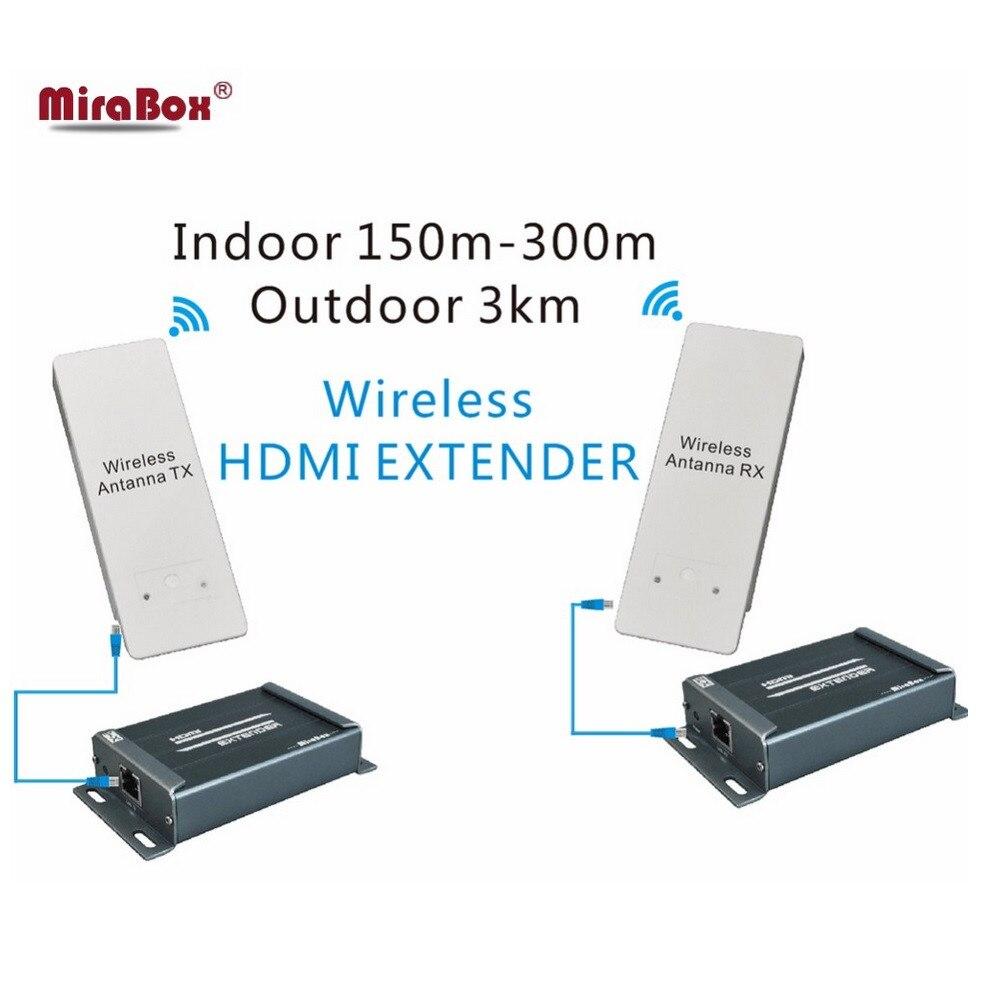 HDMI Extender Sans Fil HD Vidéo/Audio Signal Transmission HDMI sans fil Extender HD récepteur et émetteur 1080 p jusqu'à 3 km