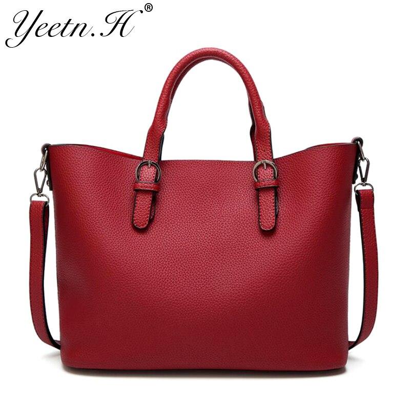 Luxury Women Leather Handbag Red Retro Vintage Bag Designer Handbags High Quality Famous Brand Tote Shoulder Ladies Handbag