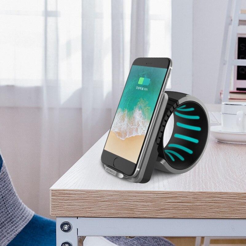 Chargeur rapide pour iphone X téléphone portable chargeur sans fil 10 w veilleuse multi-fonction chargeur de téléphone portable