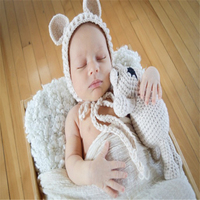 new Crochet Newborn Boys Dinosaur Outfits Baby Photography Props Knitted Hat Set Infant Photo Props baby clothes photo studio