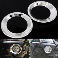 YAQUICKA 2Pcs Set Car Front Rear Fog Light Lamp Ring Trim Cover Styling Fit For Hyundai