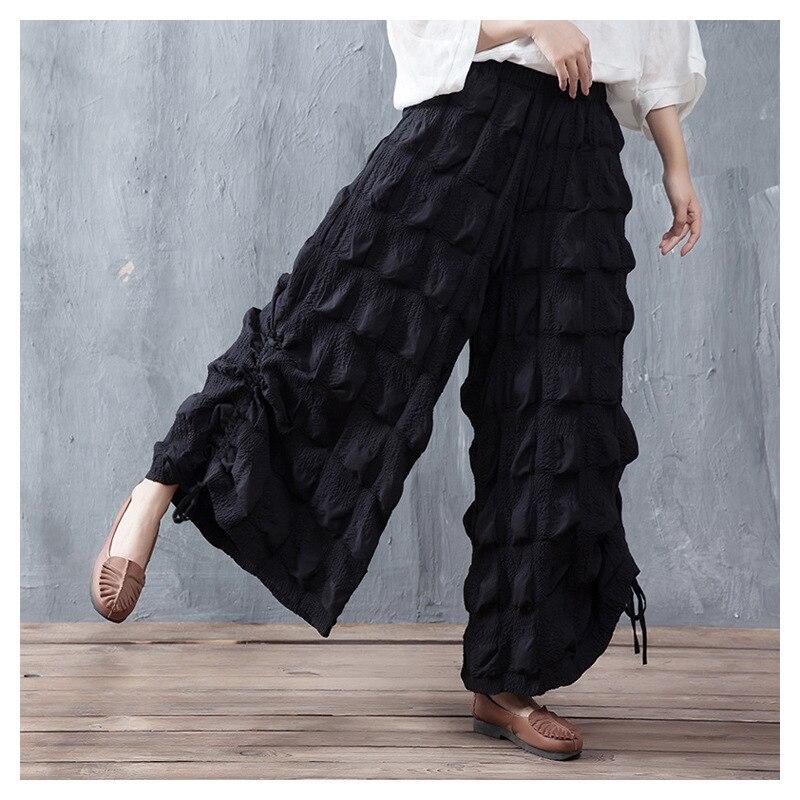 Negro Nueva Pantalones Sensación Las 1 Mujeres Aa4274 Anchos Palazzo Ropa Mujer 2018 Para Baggy Bzw8ABdxvq