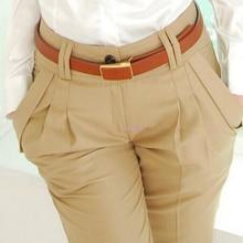 Новая мода весна лето осень женские брюки с высокой талией повседневные брюки женские элегантные тонкие размера плюс женские брюки