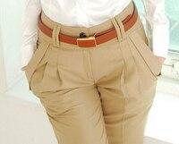 New Fashion Spring Summer Autumn Women Pants High Waist Casual Pants Ladies Elegant Silm Plus Size Pants Women