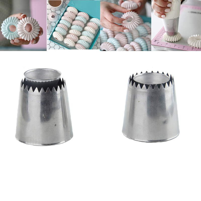 Aliexpress.com : Buy 2pcs large ring cream piping nozzles ...
