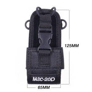 Image 2 - 2Pcs MSC 20D Nylon Multi Funktion Tasche Tasche Holster Tragen Fall für BaoFeng UV 5R UV 82 TYT Mototrola Walkie Talkie