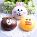 7.5*6*2.2cm The new Line contact lenses box mate Brown bear Minnie rabbit chicken Sally nursing box cosmetic Contact Lens Case