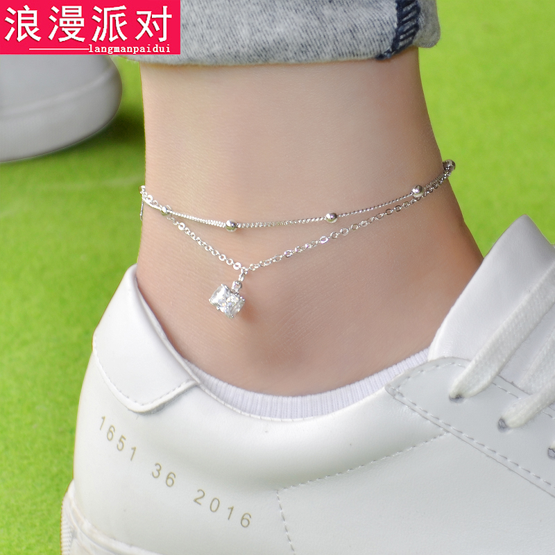 5 styles famous brand Bell Anklet Fine Jewelry Genuine Silver gold Anklets Women Fashion Jewelry Anklet