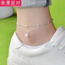 5 styles famous brand Bell Anklet Fine Jewelry Genuine Silver gold Anklets Women Fashion Jewelry Anklet female simple