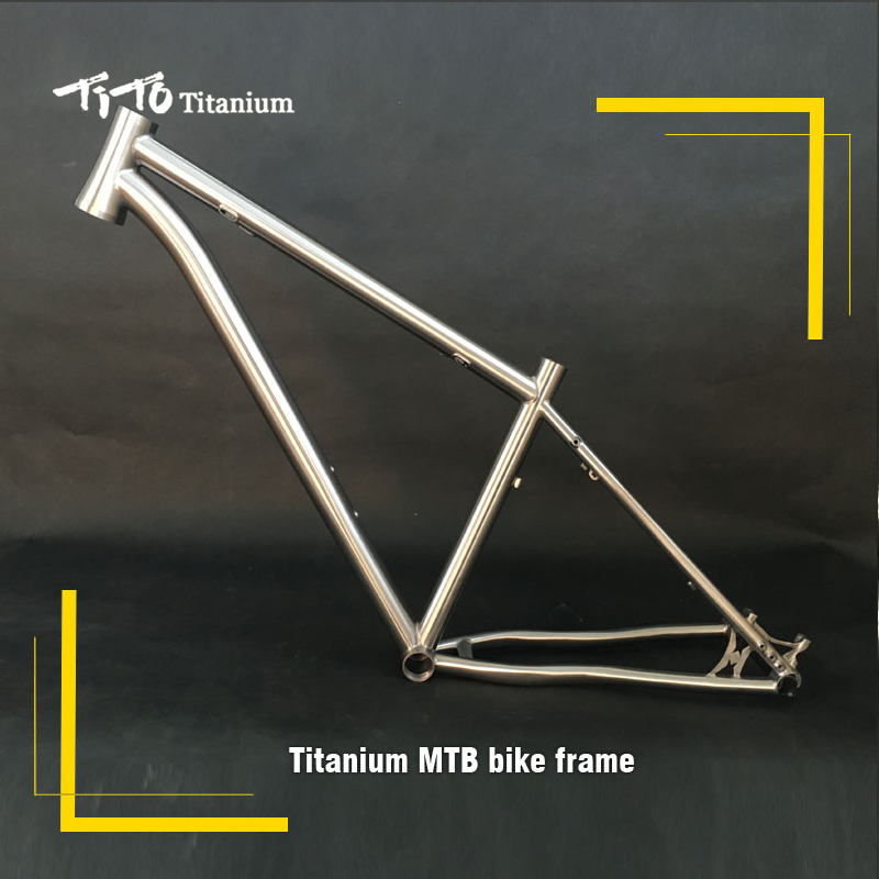 FREE SHIPPING!!!TiTo titanium mountain bike MTB frame 26 27.5 29 Internal shifter housing simi-circle PM 41.8-52 head bicycle free shipping tito titanium mountain bike mtb frame 26 27 5 29er simi circle a tail hook 34 head tube