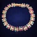 Trendy Charm Bracelets & Bangles Colorful Crystals From Swarovski Friendship Bracelets For Women Gold Bracelet Femme Jewelry