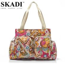 SKADI Meerjungfrau Hoher Kapazität Blume Wasserdicht Frauen Handtaschen Heißer Verkauf Umhängetaschen Nylon Berühmte Marke Frauen Messenger Bags