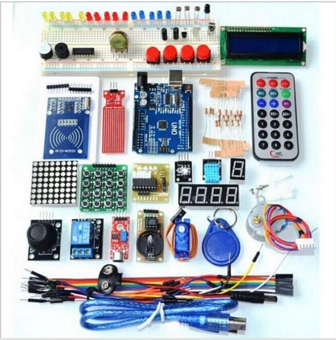 NEWEST RFID Starter Kit for Arduino UNO R3 Upgraded version Learning Suite With Retail Box geekcreit™ uno basic starter learning kit upgrade version for arduino