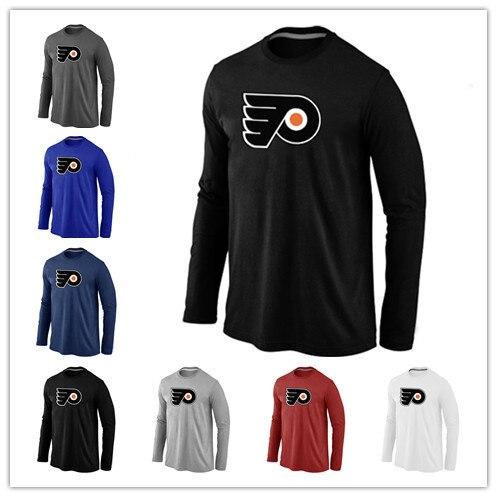 Cheap Philadelphia Flyers  Long Sleeve T Shirts Big&Tall Logo Fashion Flyers Tees Shirt Cotton O-Neck T-shirt