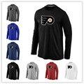 Philadelphia Flyers barato Manga Longa T Camisas Big & Logo Alto Moda Flyers T Shirt de Algodão T-shirt O-pescoço