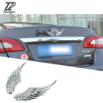 ZD 2pcs/set Car Styling Angel Wing 3D Metal Stickers For Alfa Romeo 159 BMW E46 E39 E36 E90 Audi A3 A6 C5 A4 B6 B8 Accessories image