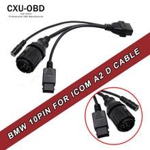 Für BMW ICOM D Kabel ICOM-D Motorräder Motobikes Diagnosekabel für bmw 10 Pin Adapter