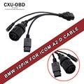 Para BMW ICOM D Cable D-motocicletas Cable Motobikes Diagnóstico para bmw 10 Pin Adaptador