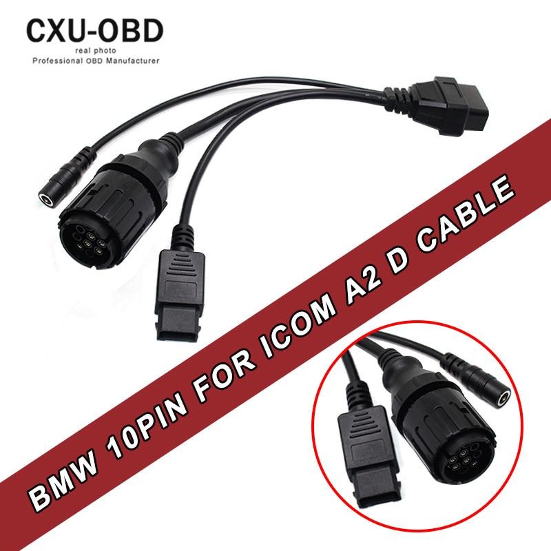 Prix pour Pour BMW ICOM D Câble ICOM-D Motos Motos Câble De Diagnostic pour bmw 10 Broches Adaptateur