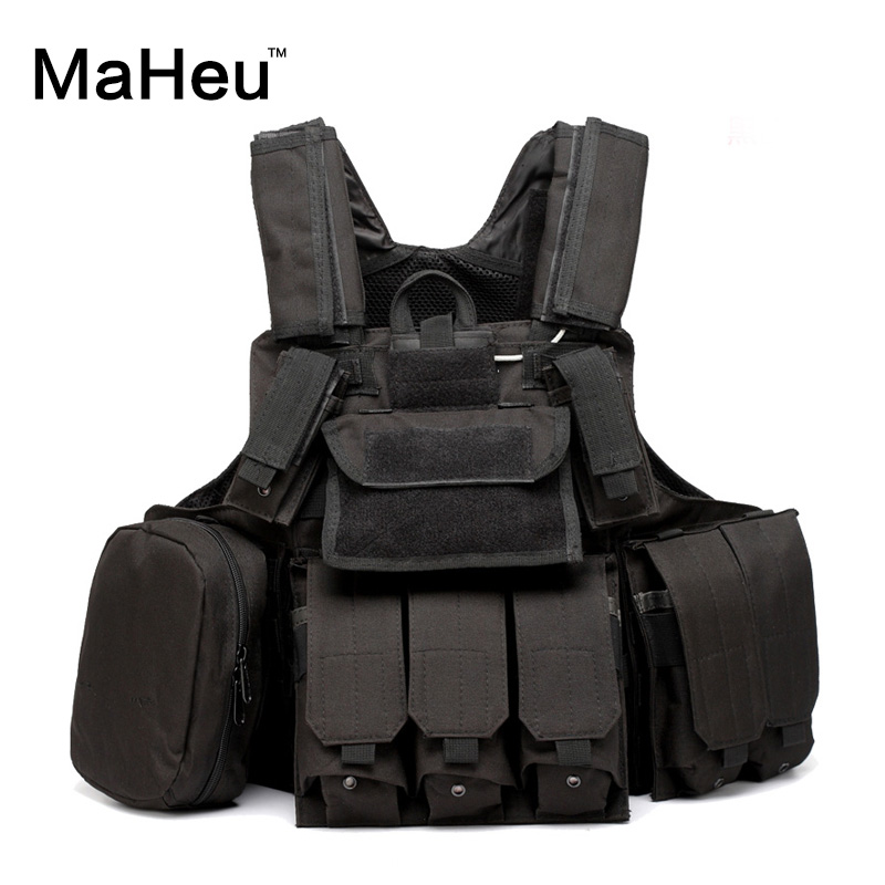 ФОТО MaHeu 2017 Wargame Wear Tactical Vest  MOLLE Body Armor Hunting Vest SWAT Combat Painball Outdoor Products Equipment Black Men
