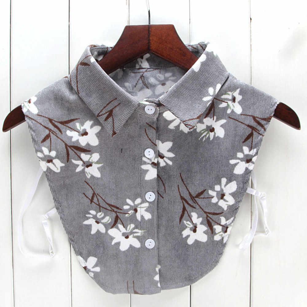 Renda Kemeja Palsu Kerah Wanita Baru Blus Kerah Palsu Pakaian Kemeja Dilepas Kerah Camisa De Mujer Con Cuello Falso Y502