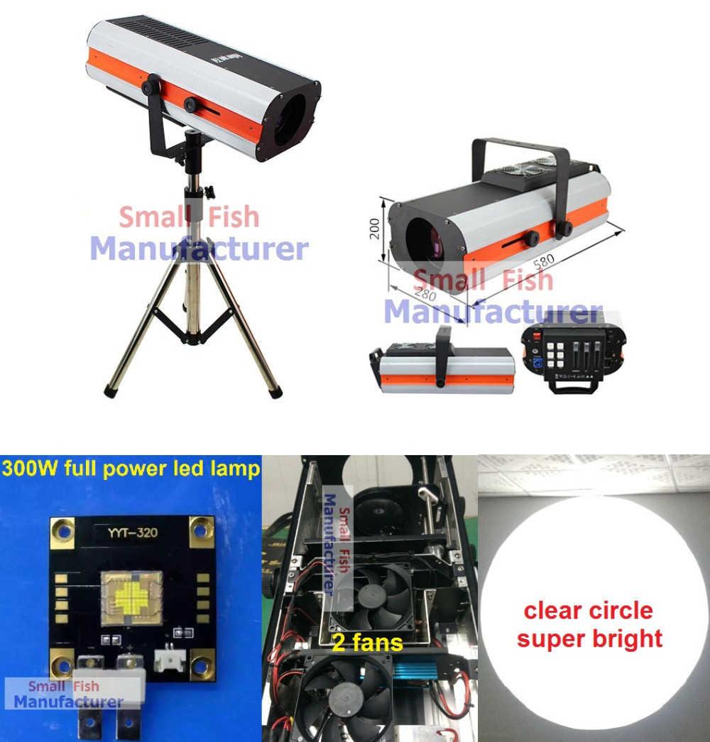 2020 Baru 300W LED Lampu Follow Spot Ganti 2500W Berikut Warna Cahaya Gobo Iris Pernikahan Dekorasi Kinerja Tahap pencahayaan