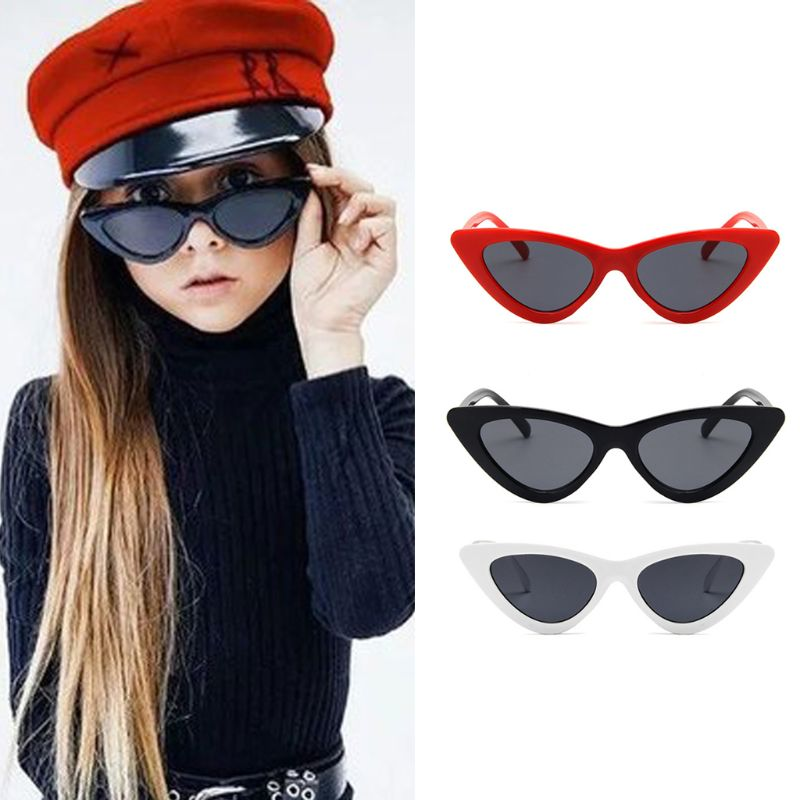 Hot Sell Cat Eye Kids Sunglasses Fashion Brand Child Sun Glasses Anti-uv Baby Sun-shading Girl Boy Sunglass Hair Pin