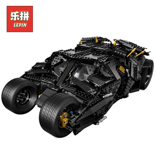 LEPIN 07060 Super Series Heroes Movie the Batman Armored Chariot set DIY Model Batmobile Building Blocks Bricks Children Toys new 1628pcs lepin 07055 genuine series batman movie arkham asylum building blocks bricks toys with 70912 puzzele gift for kids